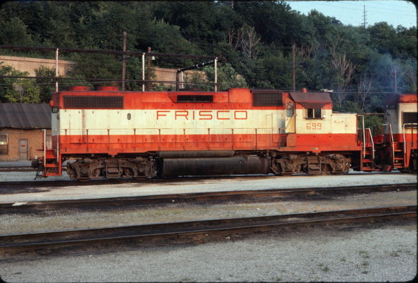 GP38-2 699 at Kansas City, Missouri in July 1977 (Keith Wilhite)