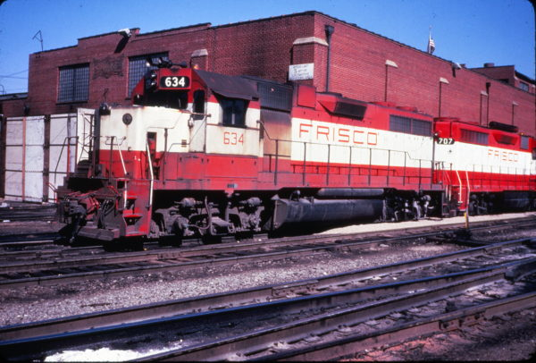 GP38AC 634 & GP35 707 at St. Louis, Missouri on March 22, 1980 (R.L. Ragsdale)