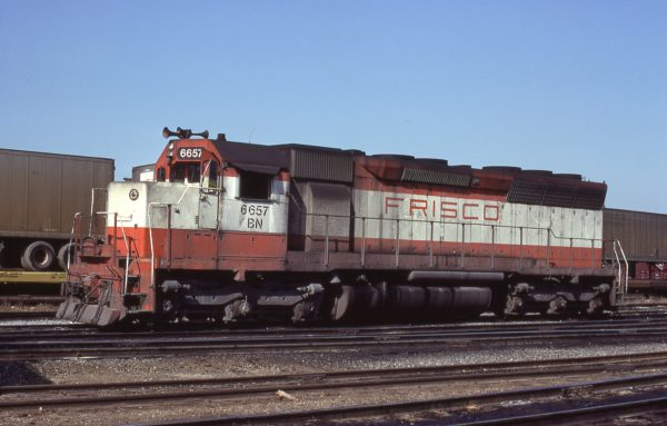 SD45 6657 (Frisco 907) at Cicero, Illinois on March 27, 1981 (J.C. Herold)