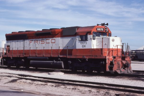 SD45 6675 (Frisco 927) at St. Louis, Missouri in February 1981 (Don Heiberger)