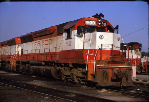 SD45 900 at Springfield, Missouri in May 1974