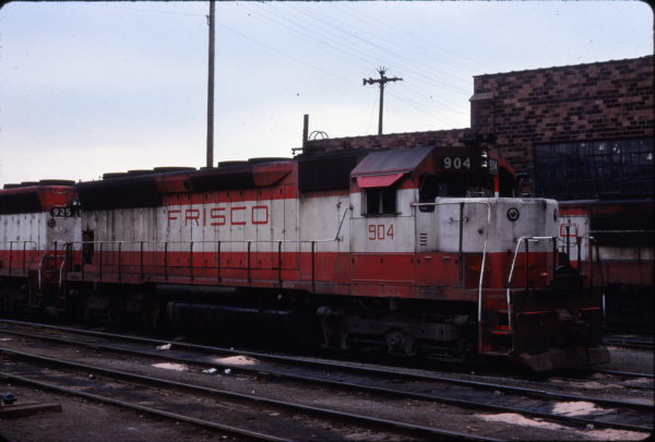 SD45 904 at St. Louis, Missouri in April 1978