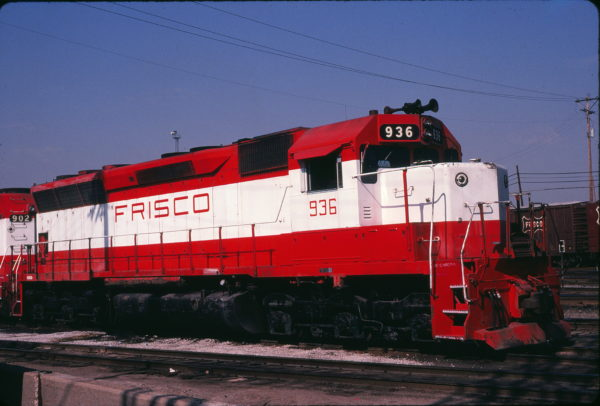 SD45 936 at St. Louis, Missouri in June 1980 (Michael Wise)