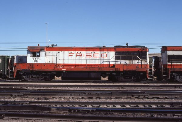 U25B 5216 (Frisco 814) at St. Louis, Missouri in January 1981 (Don Heiberger)