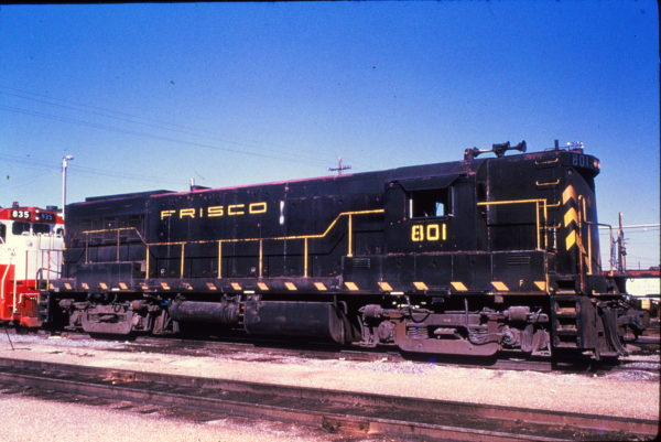 U25B 801 at Memphis, Tennessee in January 1969 (Rail Junction Slides)