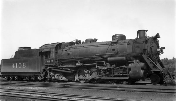 2-8-2 4108 at St. Louis, Missouri in July 1937 (Robert J. Foster)