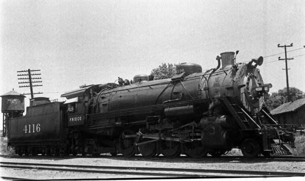 2-8-2 4116 at Enid, Oklahoma in 1939 (Ralph L. Graves)