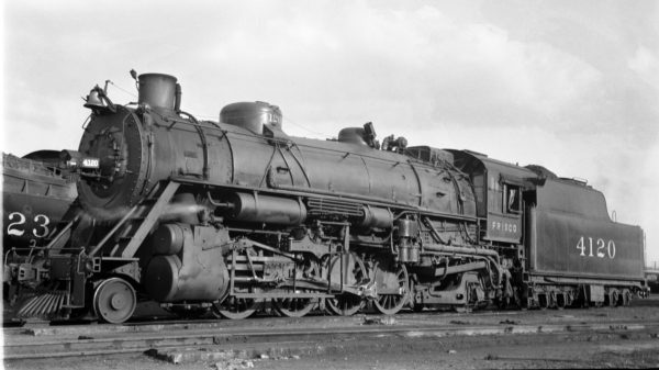 2-8-2 4120 at Amory, Mississippi on February 5, 1938