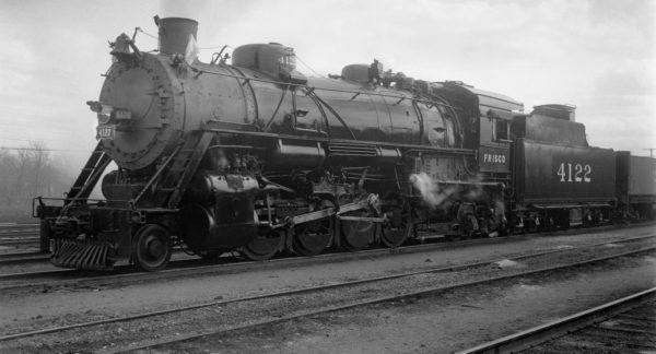 2-8-2 4122 at Tulsa, Oklahoma on March 18, 1948 (Eldridge)
