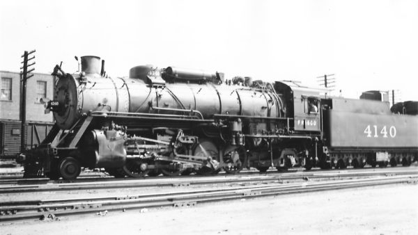 2-8-2 4140 at Tulsa, Oklahoma on July 5, 1947 (Arthur B. Johnson)