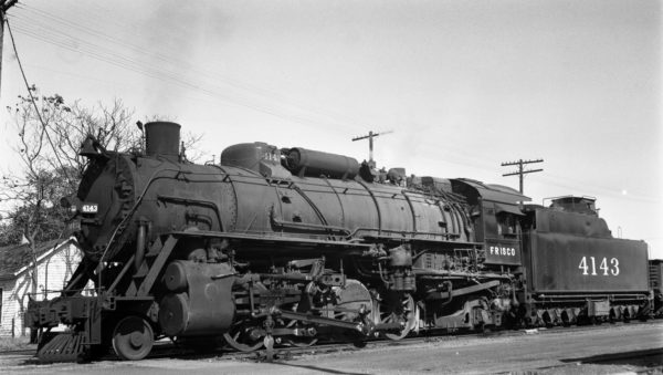 2-8-2 4143 at PIttsburg, Kansas on June 5, 1947 (G. Sisk)