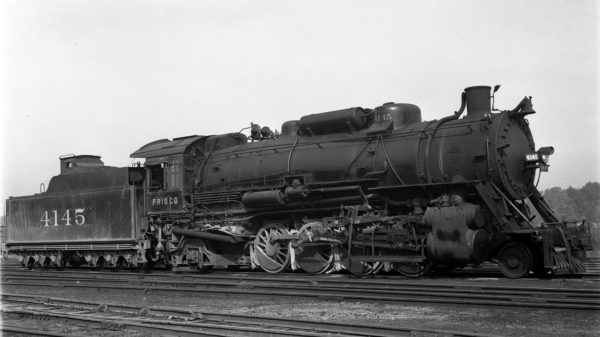 2-8-2 4145 at St. Louis, Missouri in 1936 (Foster)