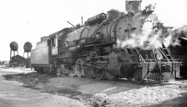 2-8-2 4150 at Monett, Missouri on February 29, 1948 (Arthur B. Johnson)