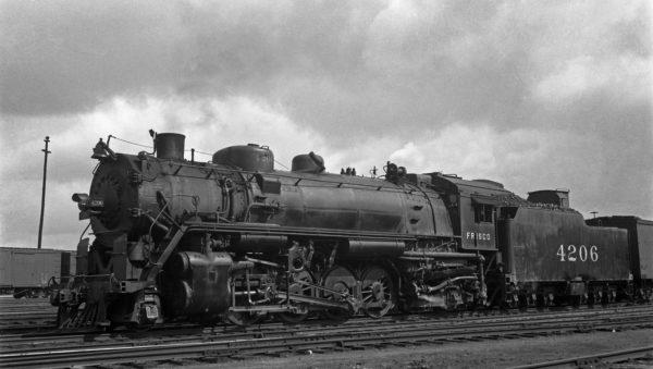 2-8-2 4206 at Kansas City, Missouri on June 15, 1935 (J.T. Boyd)