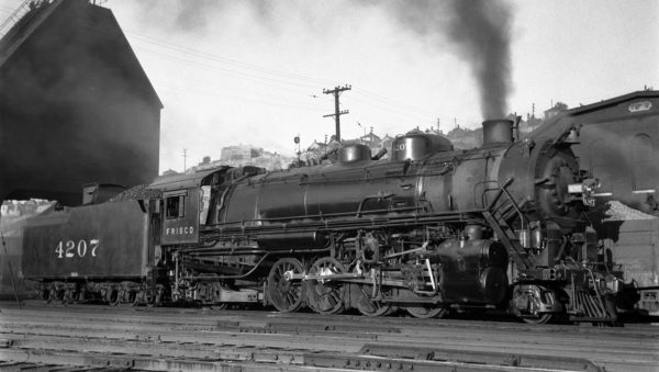 2-8-2 4207 at Kansas City, Missouri on June 13, 1936 (J.T. Boyd)