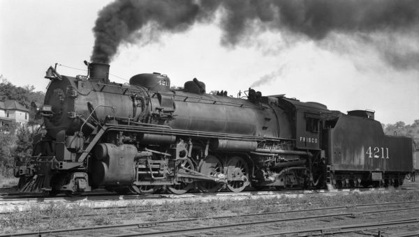 2-8-2 4211 at Rosedale, Kansas on August 4, 1936 (Foster)