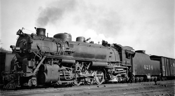 2-8-2 4212 at Rosedale, Kansas on March 3, 1936 (J. Boyd)