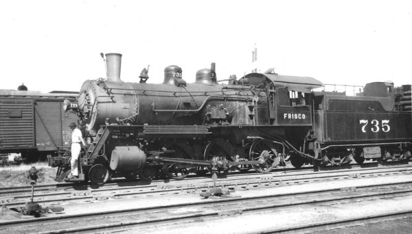 4-6-0 735 at Tulsa, Oklahoma on June 17, 1947 (Arthur B. Johnson)