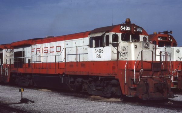 B30-7 5485 (Frisco 863) at Springfield, Missouri on February 16, 1981 (Jerry Bosanek)
