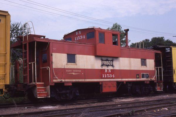 Caboose 11534 (Frisco 1204) at Irving, Texas on September 13, 1981 (Richard Yaremko)
