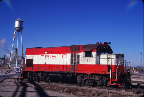 GP15-1 114 at Springfield, Missouri in January 1981 (John Benson)