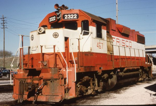 GP38-2 2232 (Frisco 467) at Springfield, Missouri on March 25, 1981