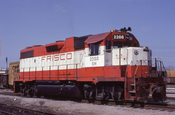 GP38-2 2288 (Frisco 433) at Ft. Smith, Arkansas on March 28, 1983 (Paul Strang)