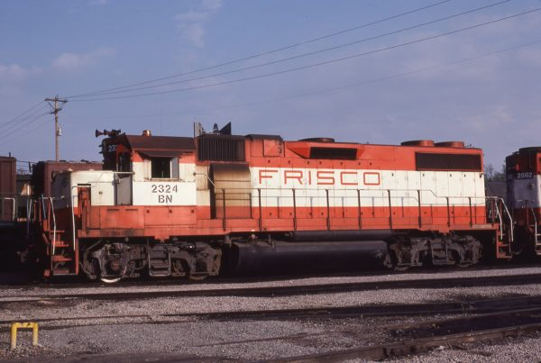 GP38-2 2324 (Frisco 469) at St. Louis, Missouri on April 13, 1981 (M.A. Wise)