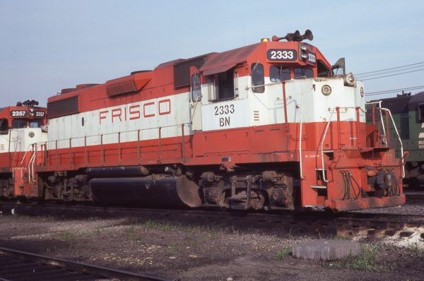 GP38-2 2333 (Frisco 478) at Galesburg, Illinois on June 29, 1981 (Rob Weber)