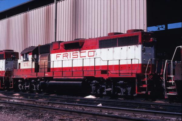 GP38-2 675 at Springfield, Missouri on September 18, 1978