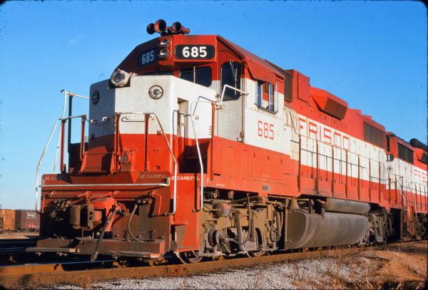 GP38-2 685 at Memphis, Tennessee on November 20, 1974 (Alton Lanier)