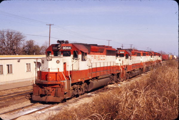 GP40-2 3044 (Frisco 754) at Irving, Texas in December 1981 (R. Donald Ross)