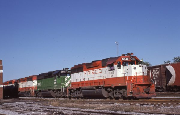 GP40-2 3046 (Frisco 756) at St. Louis, Missouri on November 7, 1981 (M.A. Wise)