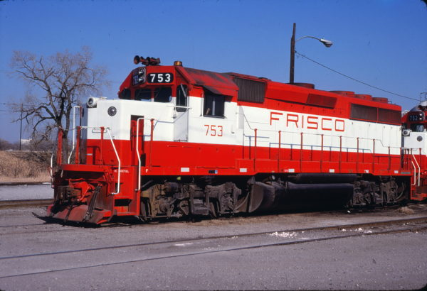GP40-2 753 at Oklahoma City, Oklahoma on December 1, 1979