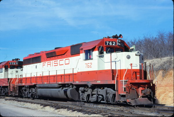 GP40-2 762 at Memphis, Tennessee in January 1981 (Lon Coone)
