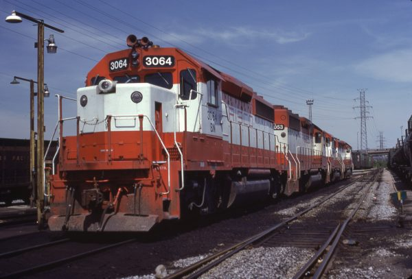 GP40-2 (Frisco 774) at St. Louis, Missouri on September 5, 1982