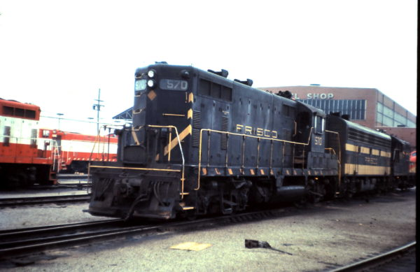 GP7 570 at Springfield, Missouri (date unknown)