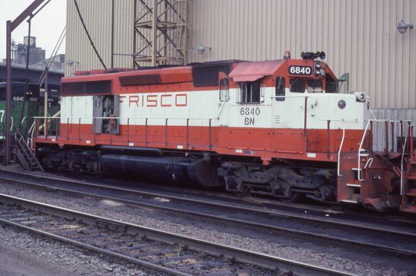 SD40-2 6840 (Frisco 950) at Fridley, Minnesota in September 1982
