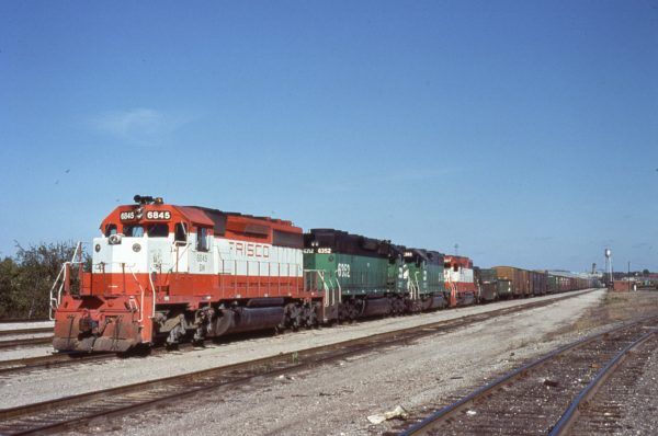 SD40-2 6845 (Frisco 955) at Springfield, Missouri (date unknown)