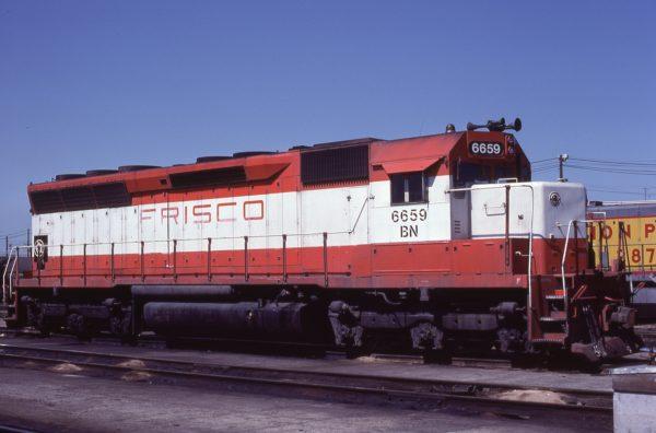 SD45 6659 (Frisco 910) at Kansas City, Missouri on April 23, 1981 (J.H. Wilson)