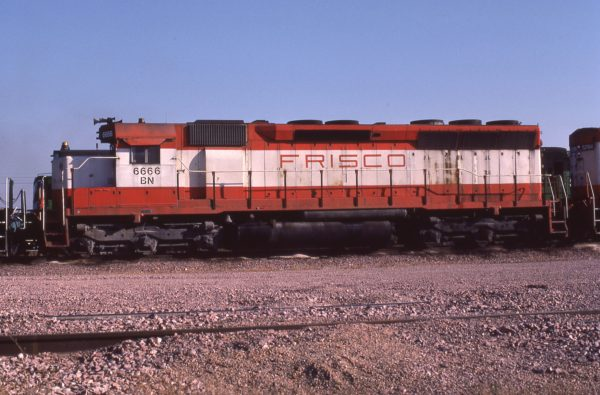 SD45 6666 (Frisco 917) at Lincoln, Nebraska in October 1981 (J.C. Butcher)