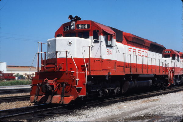 SD45 914 at Tulsa, Oklahoma on August 9, 1980 (Gene Gant)