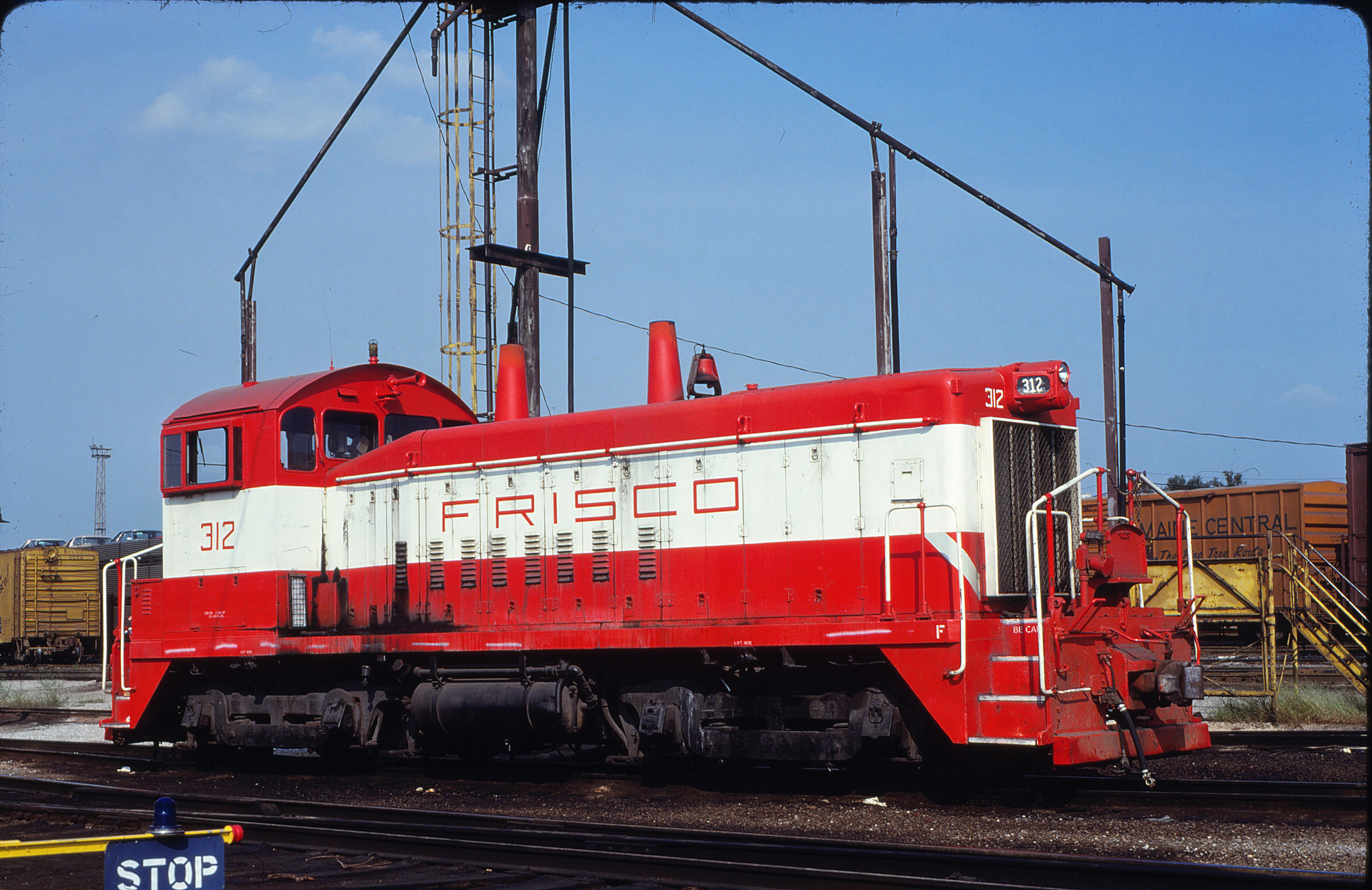 SW9 312 at St. Louis, Missouri in August 1980 (James Klas)