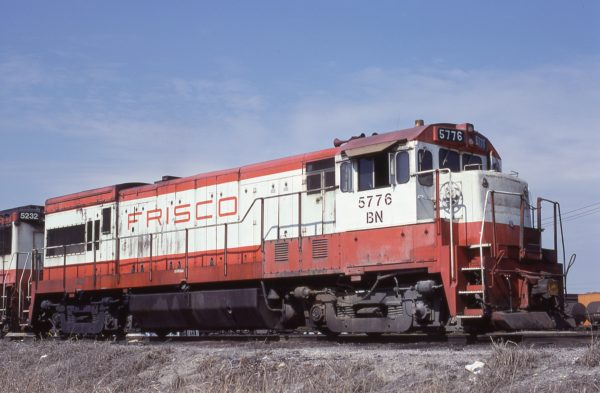 U30B 5776 (Frisco 838) at Kansas City, Missouri in March 1981