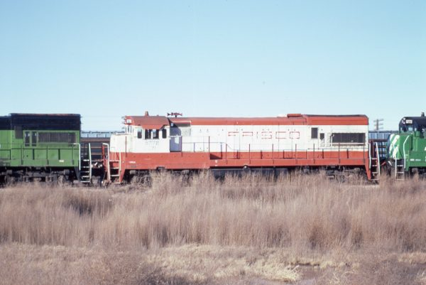 U30B 5778 (Frisco 840) at Lincoln, Nebraska in February 1982 (P.B. Wendt)