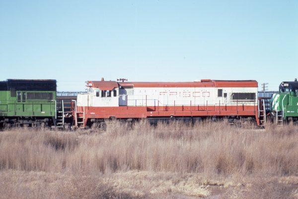 U30B 5778 (Frisco 840) at Lincoln, Nebraska in February 1982 (P.B. Wendt)