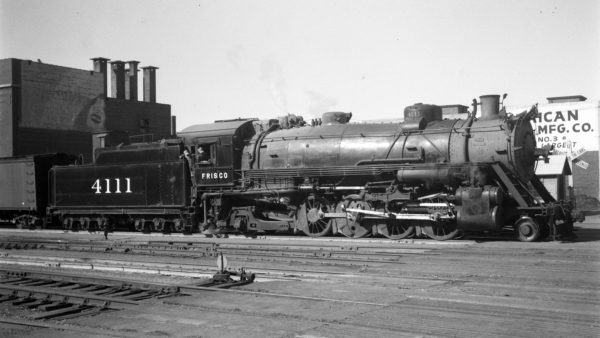 2-8-2 4111 at Tulsa, Oklahoma on April 29, 1945 or February 15, 1947