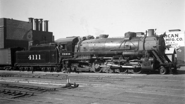 2-8-2 4111 at Tulsa, Oklahoma on April 29, 1945 or February 15, 1947