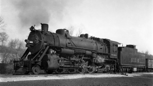 2-8-2 4114 at Rosedale, Kansas on June 13, 1936 (J. Truman Boyd)