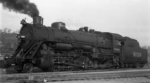 2-8-2 4126 at Kansas City, Kansas on October 21, 1939 (J.T. Boyd)